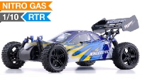1/10 2.4Ghz Exceed RC Hyper Speed Beginner Version .16 Engine Nitro Powered Off Road Buggy Fire Blue