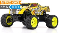 1/16 2.4Ghz Exceed RC ThunderFire Nitro Gas Powered  RTR Off Road Truck Stripe Yellow