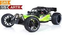 1/5th Giant Scale RC Barca 30cc Gas Powered Off Road Remote Control RC Buggy  Almost Ready to Run ARTR  & Fail Safe (AA Green)