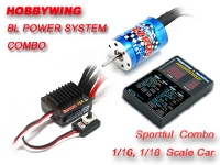 EZRUN Brushless Combo A2 with 18A-SL ESC +18T 5200KV Brushless Motor System for 1/18 Car (Version 2.0)