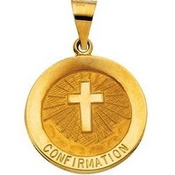 Image For 14K Gold Confirmation Medal