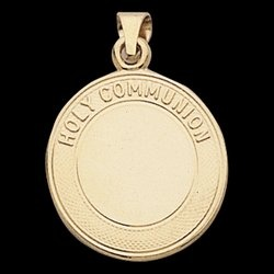 Image For 14K Gold First Holy Communion Medal