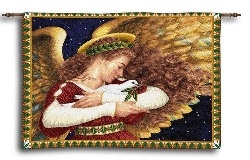 Image For Angel and Dove Inspirational Wall Hanging