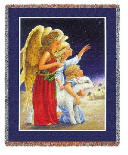 Image For Angels at Night Throw