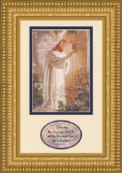 Image For At Heart's Door by Warner Sallman with Bible Verse