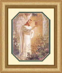 Image For At Heart's Door by Warner Sallman Gold Frame