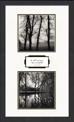 Image For Be Still and Know Black and White Christian Photography