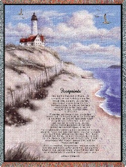 Footprints Inspirational Tapestry Throw