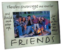 Friends Pewter Polished Picture Frame