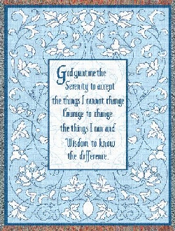 Lords Art The Serenity Prayer Inspirational Tapestry Throw