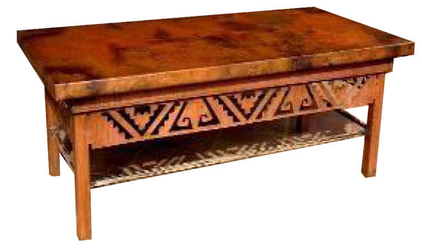 Furniture gt living room furniture gt coffee table gt living for Southwestern coffee table