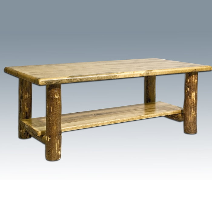Furniture Living Room Furniture Coffee Table Pine Log Coffee Table