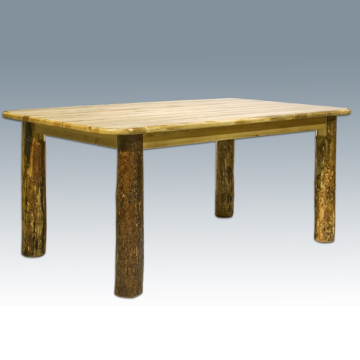 Furniture Dining Room Furniture Table Pine Log Dining Table