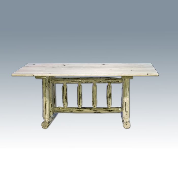 490 AMISH MONTANA COLLECTION PINE LOG DINING TABLE 866 923 6932