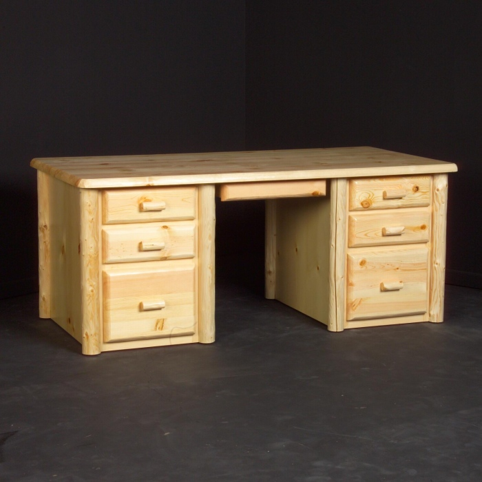 furniture office furniture pine desk 2 drawer pine desk