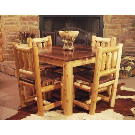 Room Furniture Square Dining Table White Cedar Square Dining Table