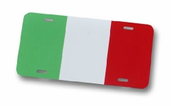 Italian Flag License Plate