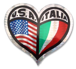 USA - Italia Heart Sticker