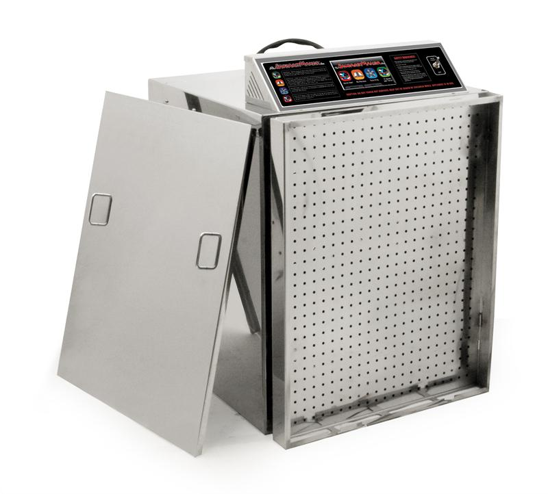 Stainless Steel 20-Tray Digital Touch Screen Insulated Dehydrator Model D20 (NSF)