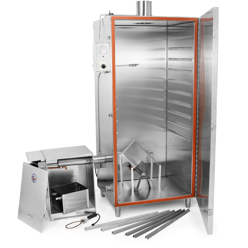 TSM Gas Smokehouse 100 Lb. Stainless Steel Inside Stainless Steel Outside 45603