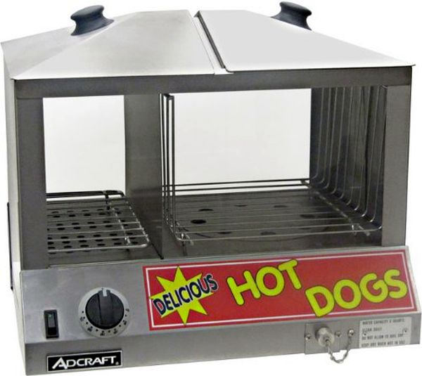 Adcraft Hot Dog Steamer ADC-HDS-1200W