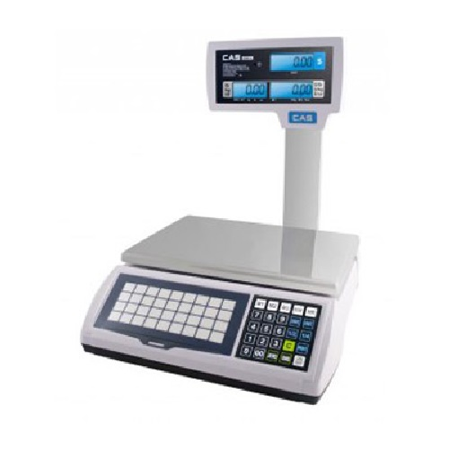 CAS A2JR-30LP Scales w/LCD Pole/Commercial/Price Computing and Printing Scales ALFA-A2JR-30LP