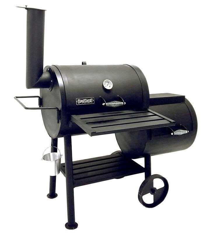 Bayou 24? Heavy Steel Smoker Grill with Firebox500-424