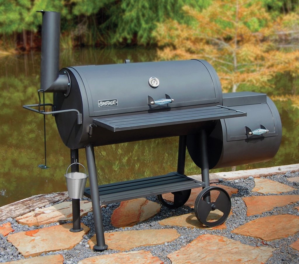 Bayou 36? Heavy Steel Smoker Grill with Firebox500-436