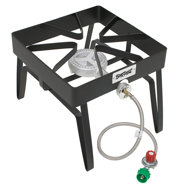 "Bayou Classic Square Patio Stove, 16""x16"", 5 psi"