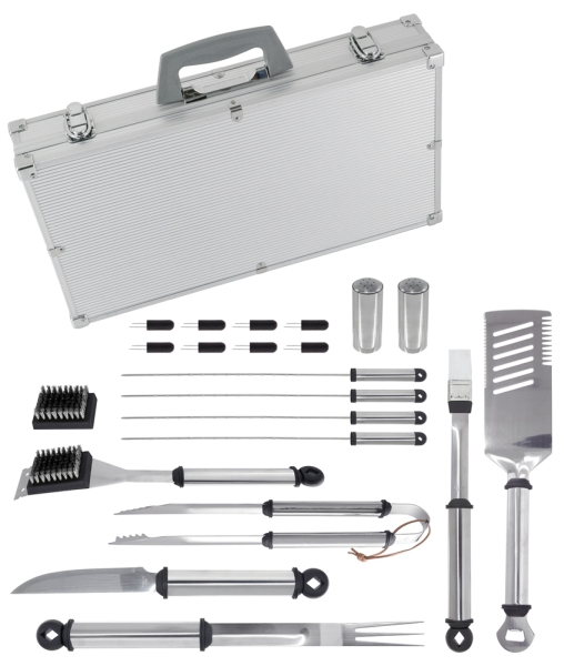 Click here for Mr Bar B Q 02066X 21 Pc Tool Set w/ Aluminum Case prices
