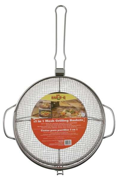 Mr. BBQ 3 In 1 Ss Mesh Grilling Basket Combo