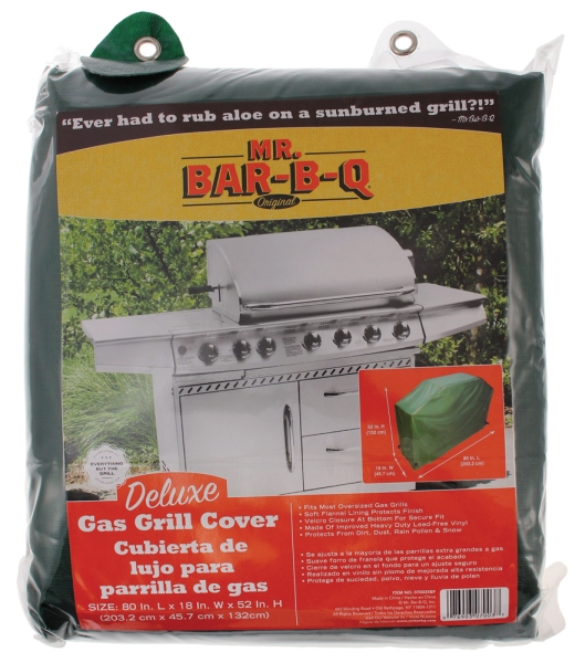 """Mr. BBQ Deluxe X-Large Grill Cover, 80"""" X 18"""" X 52"""