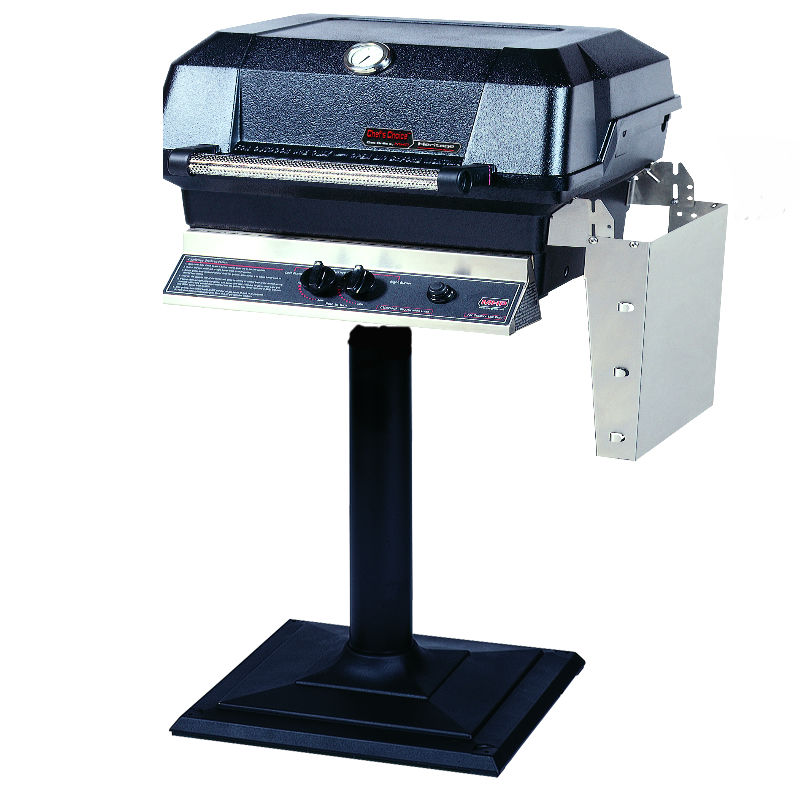 MHP Gas Grill on Patio Stand, S.S. Grid, USA Made, 30,000 BTU