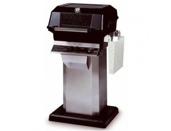MHP Propane Gas Grill on S.S. Console Cart w/Permanent Mounting Base, Sear Magic Grid, USA Made, 30,000 BTU