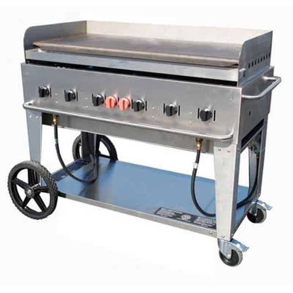 """Crown Verity Mobile Outdoor Griddle 48"""" - Nat Gas. CRO-CV-MG-48NG"""