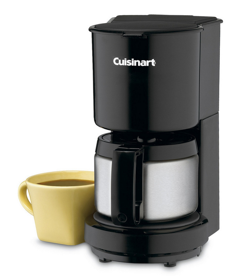 Cuisinart 4-Cup Coffeemaker with Stainless Steel Carafe (Black)
