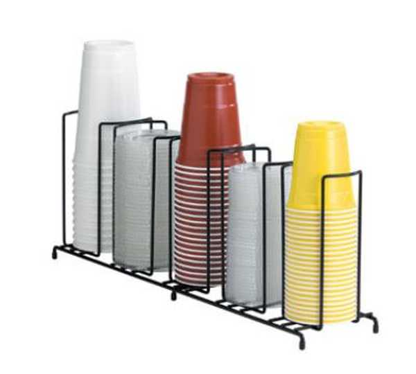 Dispense Rite Five section wire rack cup and lid organizer DIS-WR-5