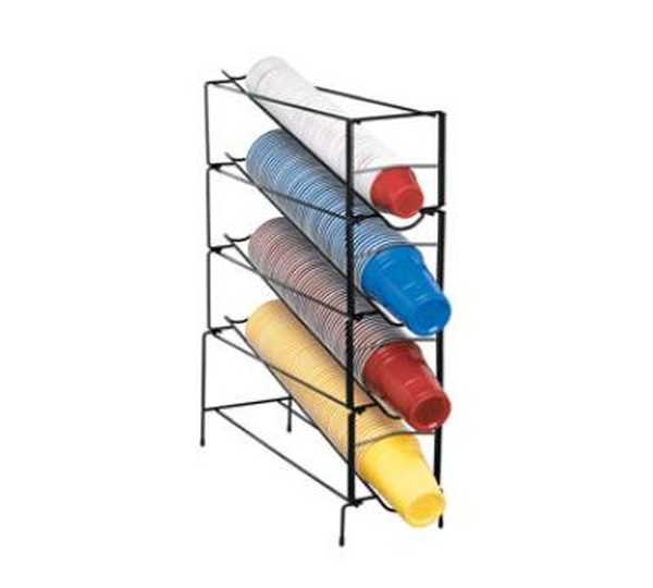 Dispense Rite Four section vertical wire rack cup dispenser DIS-WR-CT-4