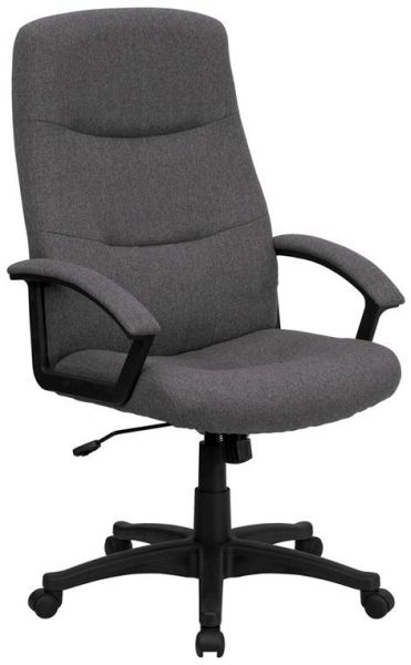 Flash Furniture HiBack Gray Microfiber Upholstered ChairBT-134A-GY-GG