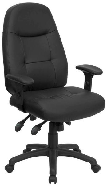 Flash Furniture High Back Black Leather Office ChairBT-2350-BK-GG