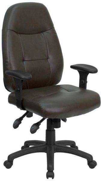 Flash Furniture High Back Espresso Brown Leather ChairBT-2350-BRN-GG