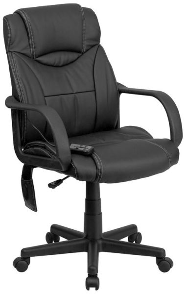 Flash Furniture High Back Massaging Black Leather ChairBT-2690P-GG