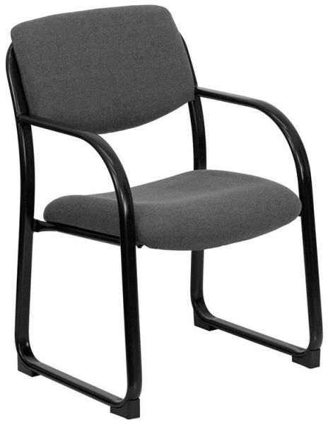 Flash Furniture Navy Executive Side Chair with Sled BaseBT-508-GY-GG