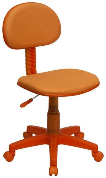 Flash Furniture Pacific Black Chair and Chrome BaseBT-698-ORANGE-GG F-BT-698-ORANGE-GG