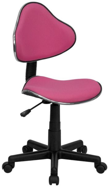 Flash Furniture Pittsburg Black Chair and Chrome BaseBT-699-PINK-GG F-BT-699-PINK-GG