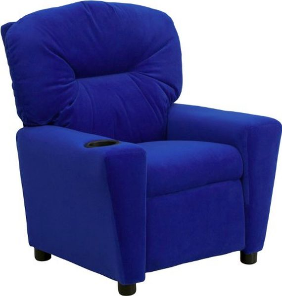 Flash Furniture Blue Vinyl Kids ReclinerBT-7950-KID-BLUE-GG F-BT-7950-KID-BLUE-GG