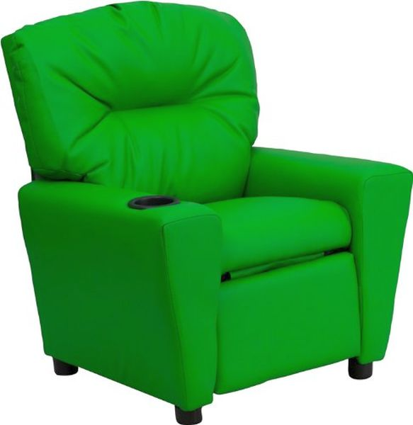 Flash Furniture Green Vinyl Kids ReclinerBT-7950-KID-GRN-GG F-BT-7950-KID-GRN-GG