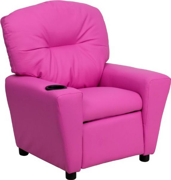 Flash Furniture Hot Pink Vinyl Kids ReclinerBT-7950-KID-HOT-PINK-GG F-BT-7950-KID-HOT-PINK-GG