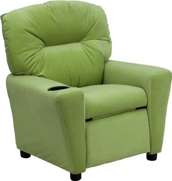 Flash Furniture Avocado Microfiber Kid ReclinerBT-7950-KID-MIC-AVO-GG F-BT-7950-KID-MIC-AVO-GG
