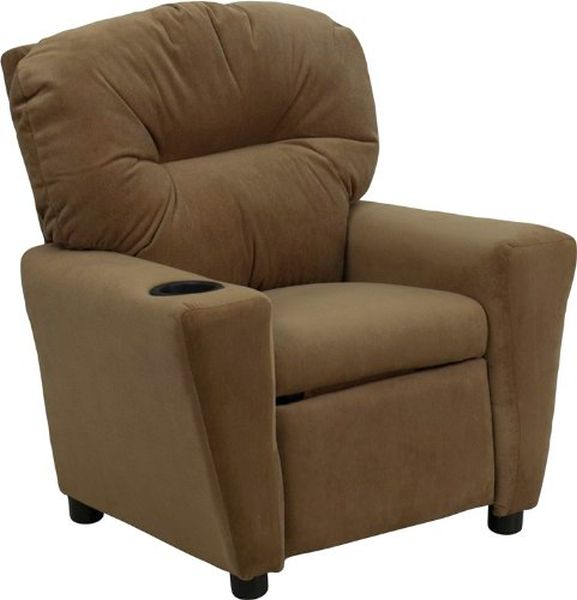 Flash Furniture Brown Microfiber Kids ReclinerBT-7950-KID-MIC-BRWN-GG F-BT-7950-KID-MIC-BRWN-GG